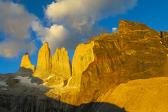 Torres del Paine mountains Stock Photo