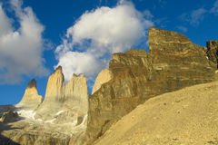 Torres del Paine mountains Royalty Free Stock Images
