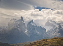 Torres del Paine Mountains, Patagonia Chile stock images
