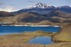 Torres del Paine N.P. in Patagonia - Chile. Lake Pehoe in Torres del Paine National Park in Patagonia in southern Chile Stock Images