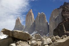 Torres del Paine at the Torres del Paine National Park, Chilean Patagonia, Chile Royalty Free Stock Image