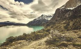 Torres del Paine National Park, color toned picture, Chile. Torres del Paine National Park, color toned picture, Patagonia, Chile royalty free stock photos