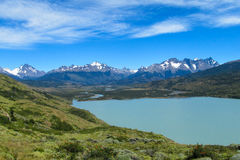 Torres del Paine national park lake Royalty Free Stock Images