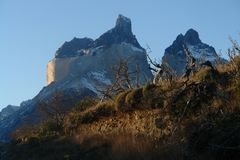 Torres del Paine National Park. Is located in the Chilean Patagonia near the city of Puerto Natales Stock Images