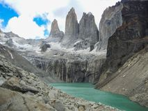 Torres del paine national park patagonia chile royalty free stock photos