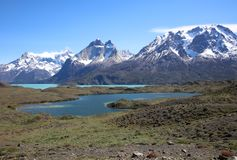 Torres del Paine National Park in Patagonia royalty free stock photography