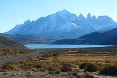 Torres del Paine National Park. Is located in the Chilean Patagonia near the city of Puerto Natales Royalty Free Stock Images
