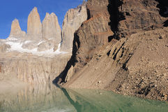 Torres del Paine National park. Stock Photo