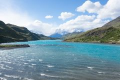 Torres del Paine National Parklandschap, Chili stock fotografie