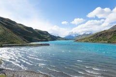 Torres del Paine National Parklandschap, Chili stock afbeeldingen