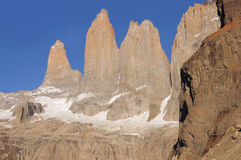 Torres del Paine nationalpark. Fotografering för Bildbyråer
