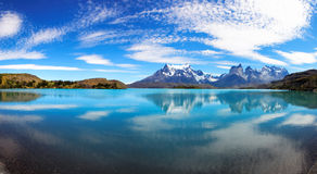Torres del Paine nationalpark, Chile Arkivfoto