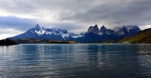 Torres del Paine nationalpark, Patagonia, Chile Arkivbilder