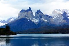 Torres del Paine nationalpark, Patagonia, Chile Royaltyfri Fotografi