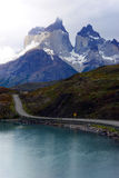 Torres del Paine nationalpark, Patagonia, Chile Arkivfoto