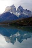 Torres del Paine nationalpark, Patagonia, Chile Arkivbild
