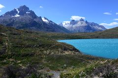 Torres del Paine nationalpark, Patagonia, Chile Royaltyfri Fotografi