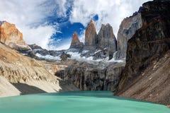 Torres del Paine o Chile imagem de stock