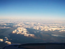 Torres Del Paine od powietrza zdjęcie royalty free