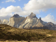 Torres del Paine park. Mountains landscape of Torres del Paine park, in Chile Stock Photos