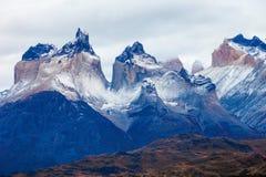 Torres del Paine parkerar Royaltyfria Bilder