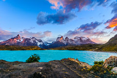 Torres del Paine,Patagonia, Chile - Southern Patagonian Ice Field, Magellanes Region of South America royalty free stock photography