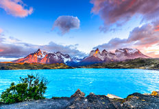 Torres del Paine,Patagonia, Chile - Southern Patagonian Ice Field, Magellanes Region of South America Royalty Free Stock Images