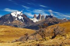 Torres del Paine, Patagonia, Cile Fotografie Stock Libere da Diritti