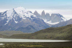 Torres del Paine peaks. Chile. Patagonian landscape Royalty Free Stock Image