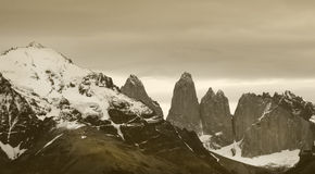 Torres del Paine peaks. Chile. Patagonian landscape Royalty Free Stock Images