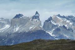 Torres del Paine pieken chili 3d zeer mooie driedimensionele illustratie, cijfer Royalty-vrije Stock Afbeeldingen