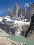 Torres Del Paine (portret) Royalty-vrije Stock Foto