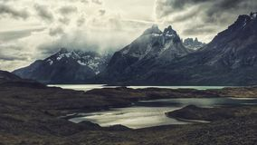 Torres del Paine. Paine river, waterfall, national park Stock Photo
