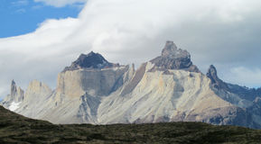 Torres del Paine towers view from Paine Grande royalty free stock photos