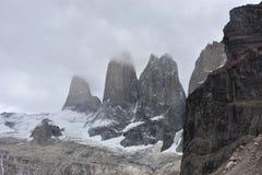 Torres del Paine Trail Torens Royalty-vrije Stock Fotografie