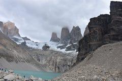 Torres del Paine Trail Torens Stock Fotografie