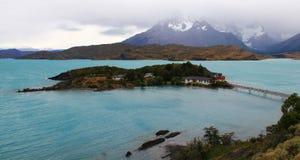 Torres del Paine in un giorno nuvoloso Fotografie Stock Libere da Diritti