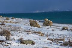 Torres Del Paine in Winter Stock Photos