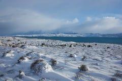 Torres Del Paine in Winter Stock Image