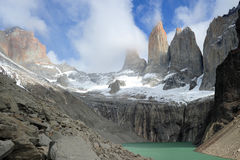 Torres del Payne, Chili Image stock