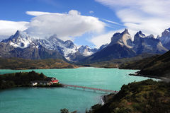 Torres del Payne, o Chile fotos de stock royalty free