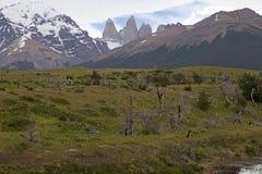 Torres del Piane nel parco nazionale di Torres del Paine, regione del Magallanes, Cile del sud Immagini Stock
