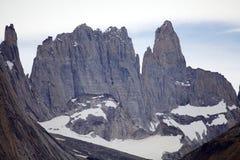 Torres del Piane nel parco nazionale di Torres del Paine, regione del Magallanes, Cile del sud Immagine Stock