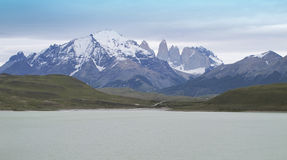 Torres del Piane peaks. Patagonian landscape with mountains. Royalty Free Stock Photos