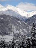 Torres del reloj en Mestia Georgia Imagenes de archivo