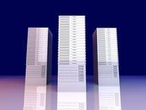 torres del servidor 19inch Fotografía de archivo