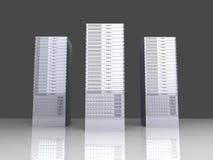 torres del servidor 19inch Imagen de archivo