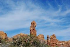 Torres determinadas de la roca, Utah Imagen de archivo