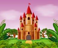 Torres do castelo na selva ilustração stock