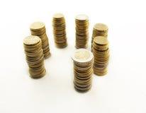 Torres do ciclo do dinheiro Fotografia de Stock Royalty Free